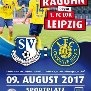 Plakat - SV Kickers vs. 1. FC Lok Leipzig