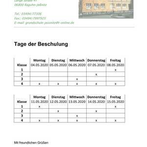 Tage der Beschulung GS Jeßnitz