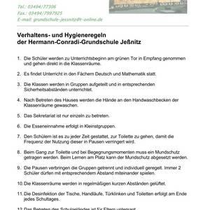 Verhaltensregeln GS Jeßnitz